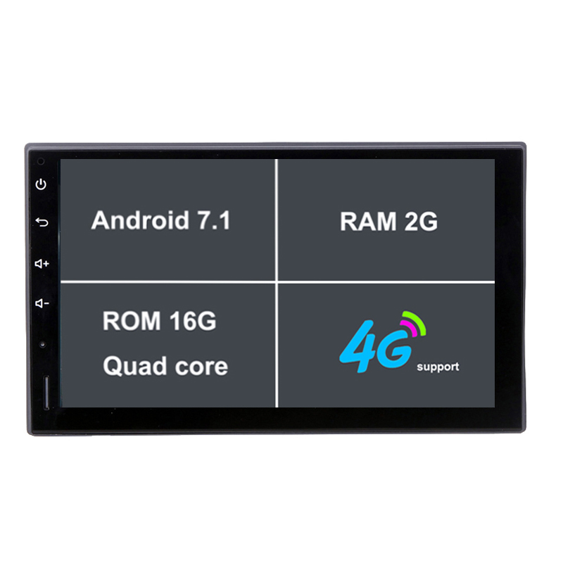 7 2 DIN 1024*600 Android 7.1 автомобильный нажмите ПК Оперативная память 2 г автомобильный DVD для Nissan/ hyundai GPS навигации Радио стерео плеер (без DVD) ...