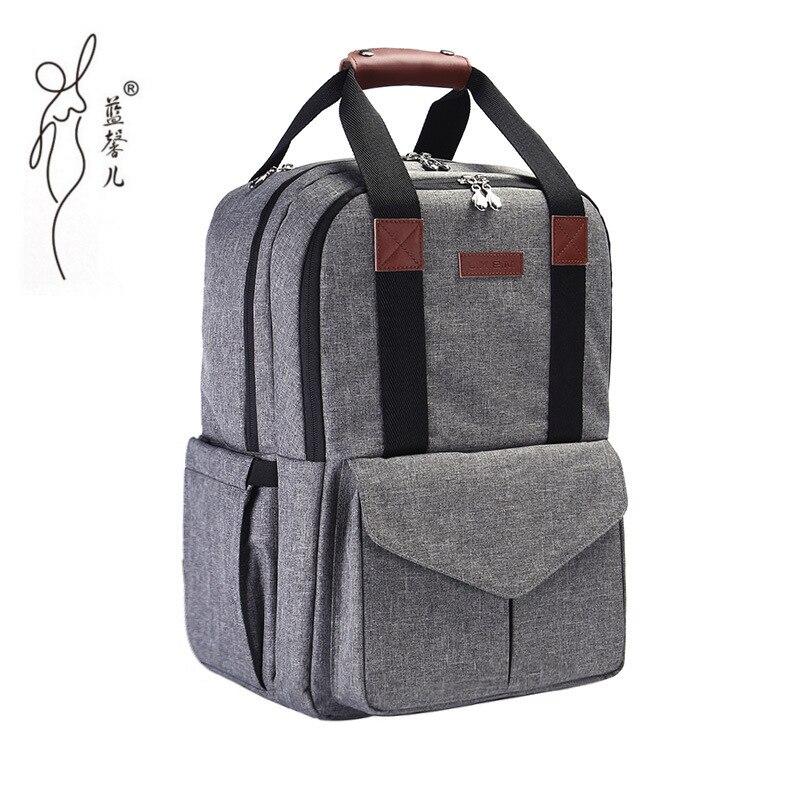 Nouveau sac à dos imperméable à l'eau sac à couches papa maman sac à couches fonctionnel grand sac à dos à couches mignon bébé sacs d'allaitement sacs poussette