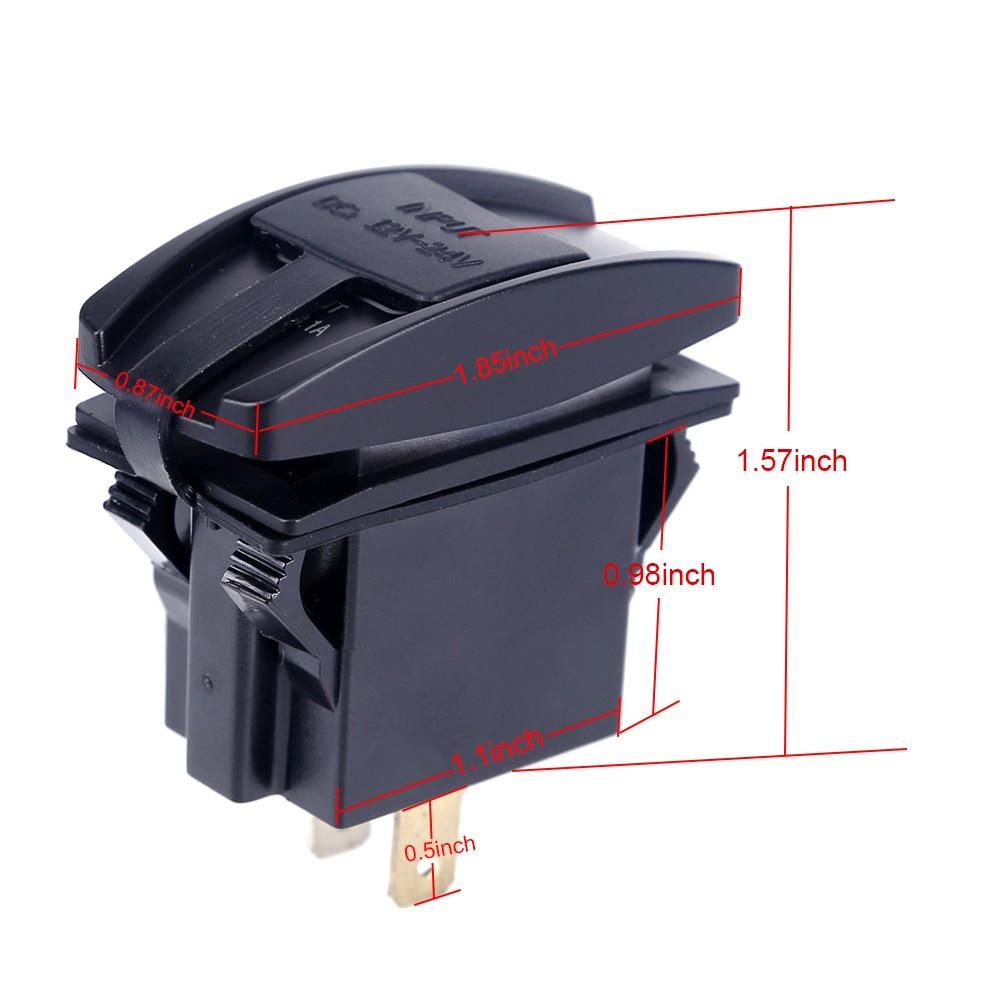 Universal Tahan Air Charger Mobil Dual Port Auto Adaptor Outlet DC 12 - Aksesori dan suku cadang ponsel - Foto 2