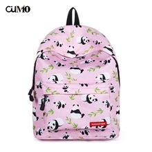 Ou Mo brand panda Print Women Bag man teenagers Boys/Girls Schoolbag laptop anti theft backpack feminina Mini