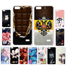 Ojeleye DIY Patterned Silicon Case For Huawei Honor 4C Case Soft TPU Cartoon Phone Cover Honor 4C C8818 Covers Anti-knock Shell аккумулятор zip для huawei honor 4c 452812