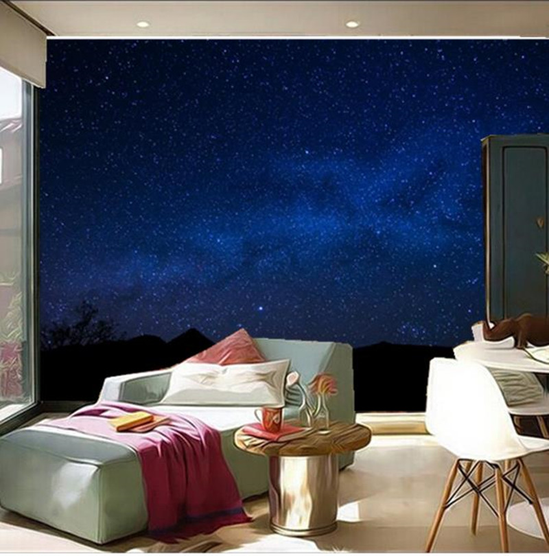 Custom 3D large mural,Milky Way Sky Night Space wallpapers  papel de parede,living room TV wall bedroom wallpaper custom large 3d murals beautiful peach blue sky zenith mural ceiling papel de parede living room the bedroom wallpaper