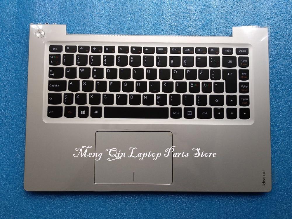 New/Orig EU keyboard for Lenovo IdeaPad U430P U430 Palmrest Top Cover Upper Case with Touchpad No backlight цена