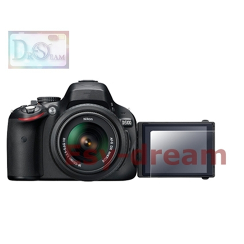 Self-adhesive Tempered Glass / Film LCD Screen Protector Cover For Nikon D5100 D5200 Camera