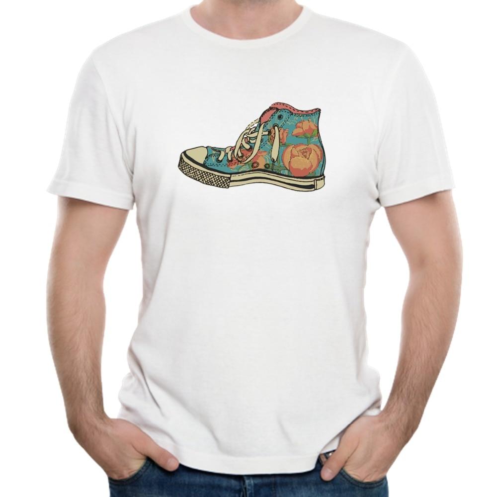 Shoes Printed T-Shirt Men T Shirt Mens Fashion men T Shirts Casual brand Clothing Cotton 3D Tshirt HQ-WM-42