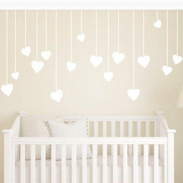 Kinderzimmer Wandaufkleber | Kindergarten Hangen Liebe Herzen Kinder Wandkunst Kinderzimmer Dekor