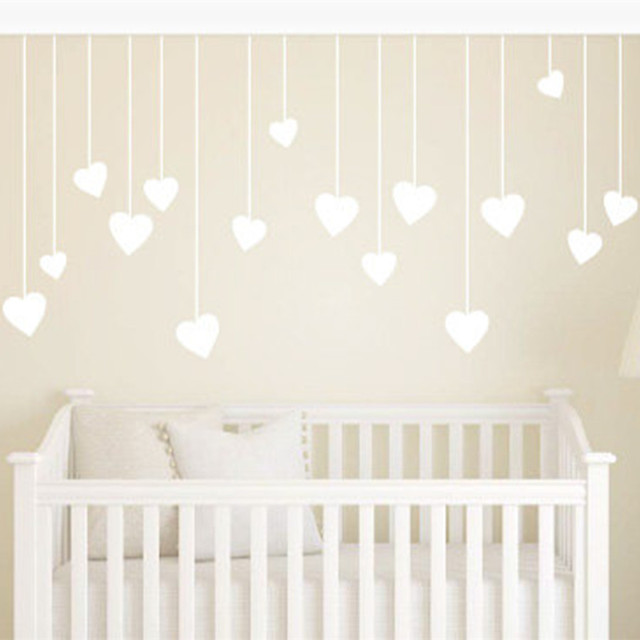 Kindergarten Hanging Love Hearts Childrens Wall Art Nursery Decor Stickers Kids For Child S