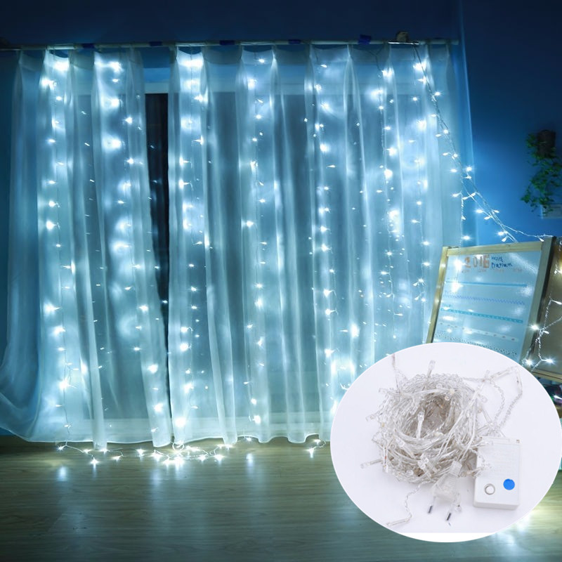 8 Mode Waterfall Waterproof Light String LED Fairy Icicle Lights Strip Festival Birthday Party Curtain Decor Lights 3*2M/3M8 Mode Waterfall Waterproof Light String LED Fairy Icicle Lights Strip Festival Birthday Party Curtain Decor Lights 3*2M/3M