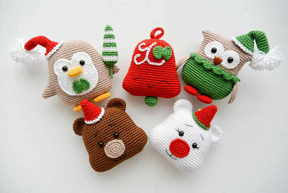 Crochet pattern Nick, the christmas bear + Christmas penguin PDF ... | 383x570