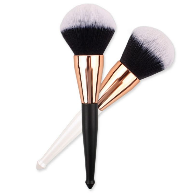 CHILLI Total length 19cm special black plastic handle soft synthetic hair professional big loose powder brush in makeup