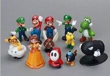 Super Mario Bros 1set 1″-2.5″ yoshi dinosaur Figure toy Super mario yoshi action figure PVC retai