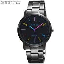2016 Montres femmes mode luxe marque GIMTO femmes montre reloj mujer dames montre à quartz en acier inoxydable relogio masculino