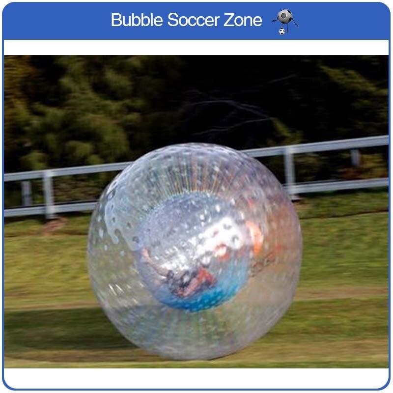 Livraison Gratuite Dia 2.5 m Boule de Zorb Géant Gonflable PVC Boule D'herbe gonflables pour saler Gonflable Boule De Zorb À Vendre