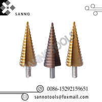 4 12mm / 4 20mm / 4 32mm Reamer Triangle Shank Edge Step Cone Drill Bit Hole Cutter Sets Hand Tools For Metal Cutting