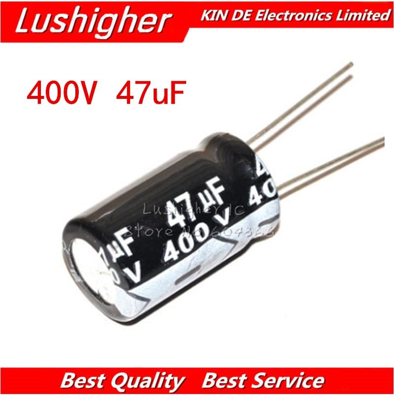 5PCS 400V47UF 16*22mm 47UF 400V 16x22 Mm Aluminum Electrolytic Capacitor