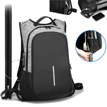 Business Laptop Backpack Water Resistant Anti-Theft College Backpack with USB Charging Port and Lock 15.6 Inch Computer Backpack