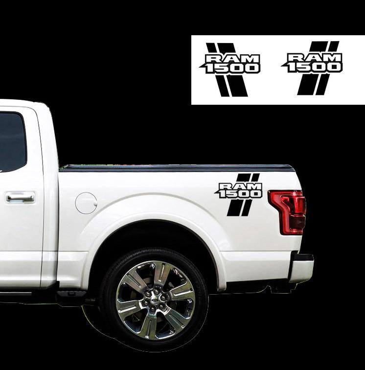 Dodge Ram mk4 1500 Rebel side bed graphics stripe decal