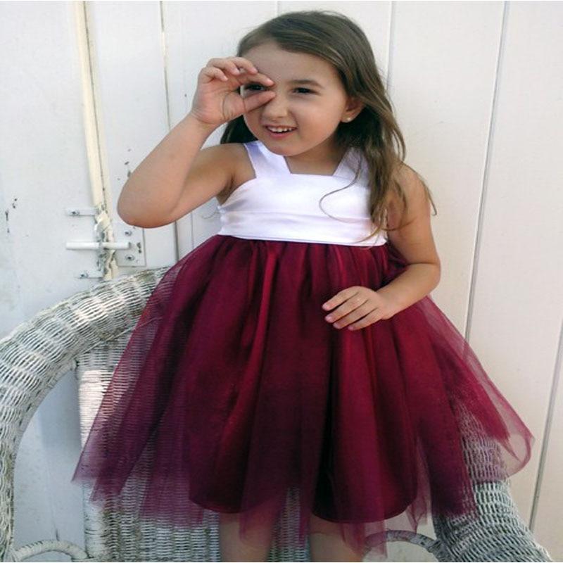 A-Line Flower Girl Dresses for Wedding Tulle First Communion Dresses for Girls Sleeveless Summer Dress Mother Daughter Dresses