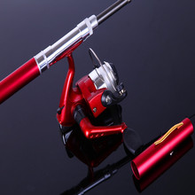 Ice Fishing Rod combo Mini Shape Portable Pocket Fly Fishing Rod Telescopic Winter Fishing Rod Mini Pen rod with Spinning reel