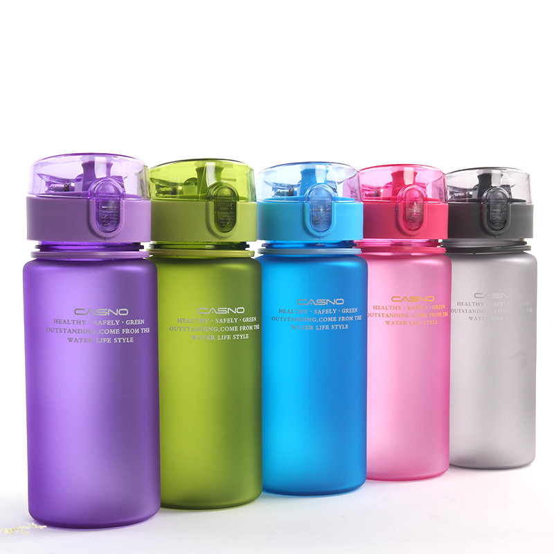 CASNO  Water Bottles 400ml Capacity Drinking Portable Plastic Sport Drink Bottle bpa Free botle