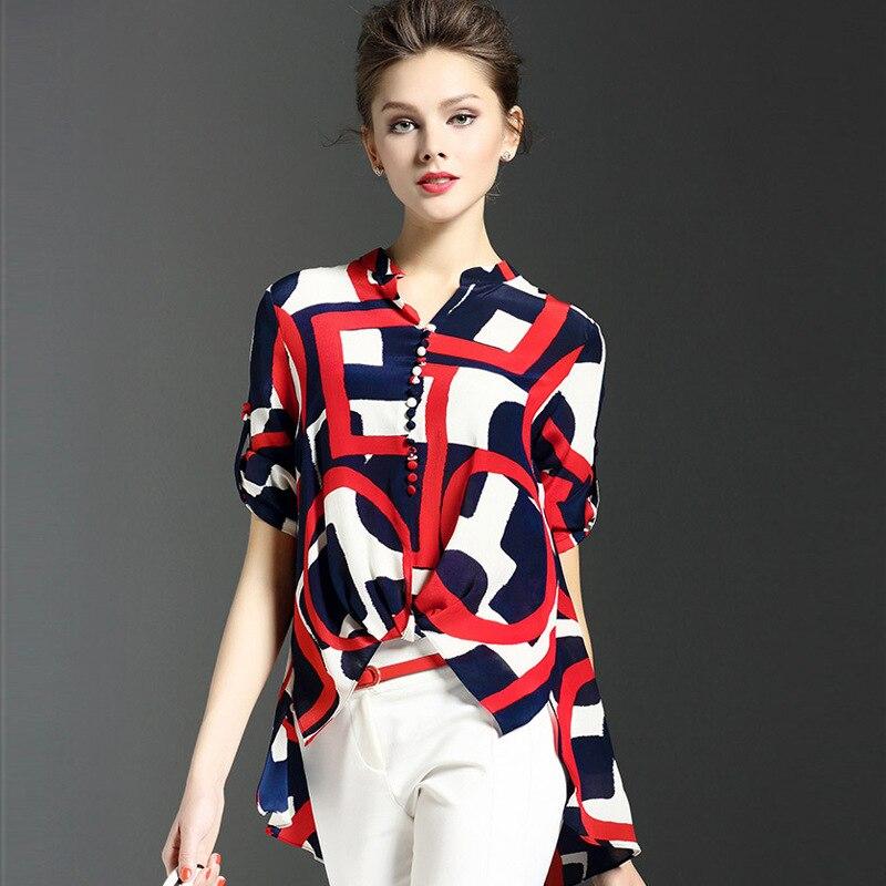 女性レディース韓国ファッションブラウス花柄シャツ気質不規則なshirs blusas vetementファム女性服トップシュミーズ
