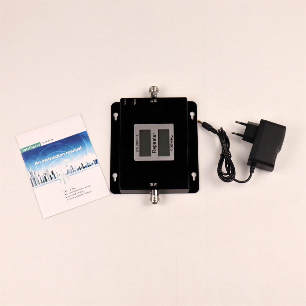 Double bande Booster 3G répéteur Double affichage GSM 900 MHz UMTS 2100 MHz téléphone portable WCDMA répéteurs 2G amplificateur Signal Booster - 5