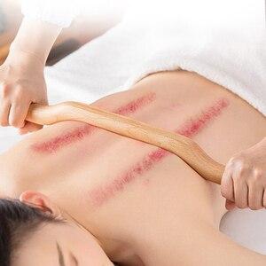 Image 2 - 4 Pcs Guasha Scraping Stick Made From Natural Wood Fast Large Area GuaSha Set For Back Shoulder Neck Waist Leg Massage Tools