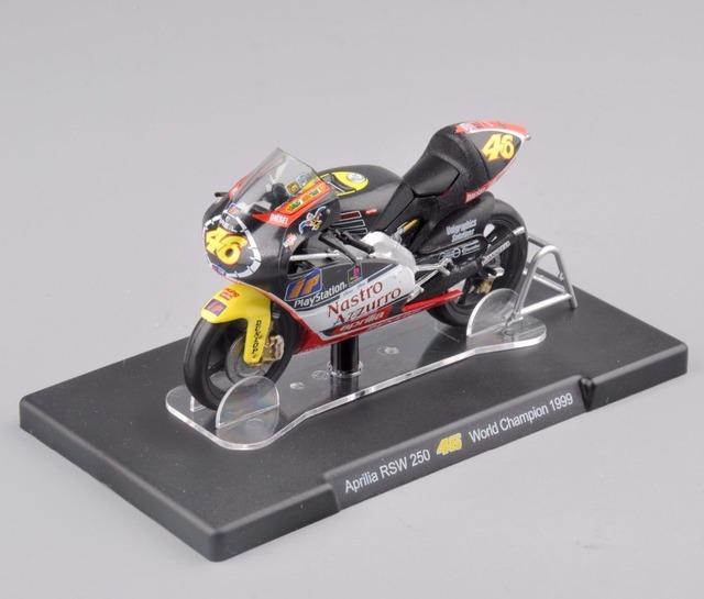 Ixo altay 1/18 aprilia rsw 250 #46 campeón del mundo de 1999 rossi motocicleta modelo diecast modelo de la motocicleta muchachos regalo colección