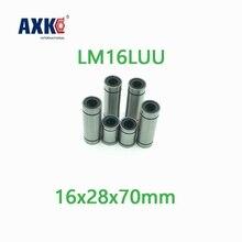 Axk 2 قطعة Lm16luu طويل نوع 16x28x70 مللي متر 16 مللي متر الخطي الكرة تحمل أدلة خطية المحامل البصرية الخطية