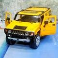 Brand New KINGSMART 1/32 Escala EE.UU. 2008 Hummer H2 SUV Diecast Metal Tira Del Coche Modelo de Juguete Para El Regalo/colección/Niños