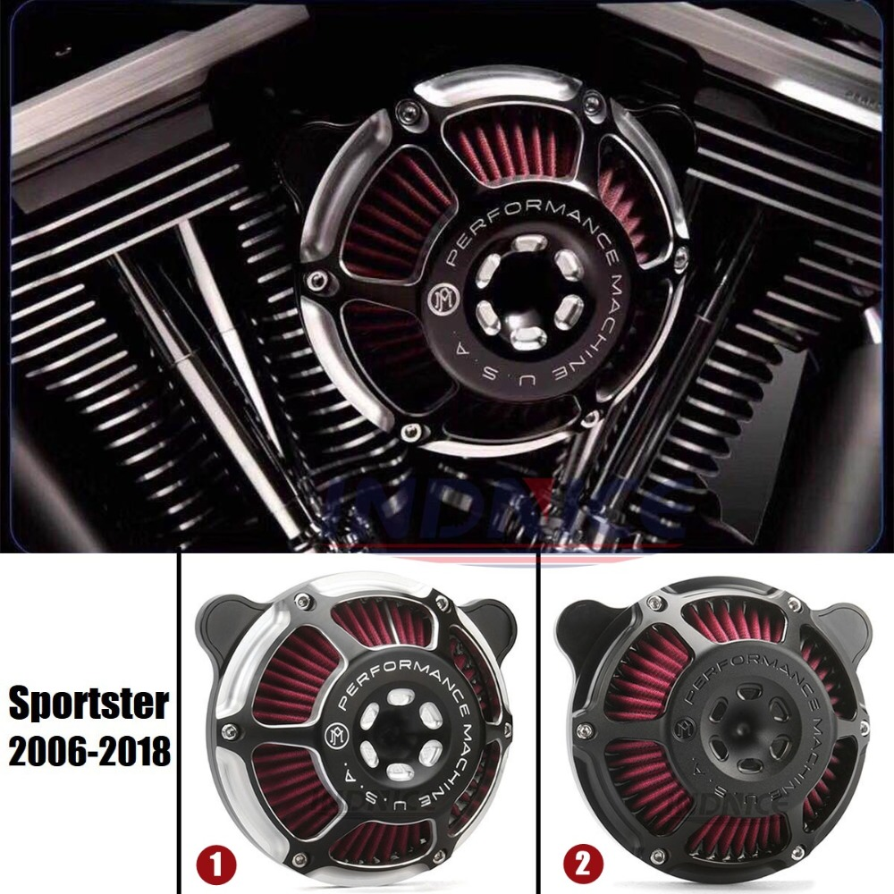 CNC Cut Pm Air Cleaner Air Cleaner Filter Pm Intake Kit For Harley 1200 48 72 XL883 XL1200 Iron 883 Sportster 2006-2018 2016