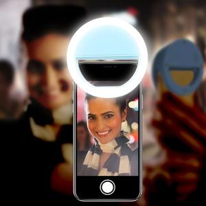 Image 5 - KISSCASE Selfie แฟลช LED เติมหลอดไฟแบบพกพาโทรศัพท์มือถือ LED Selfie แหวน Luminous คลิปสำหรับ iPhone สมาร์ทโฟน