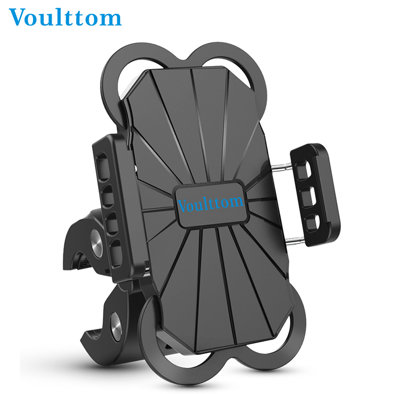 Voulttom Bike Phone Holder 360 Rotation Bike Holder Stand for iPhone Samsung Motorcycle phone holder Mobile Phone holder