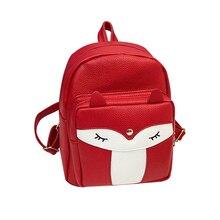 2019 New Women Girls Mini Fox Backpack Rucksack School Bag Travel Daypack