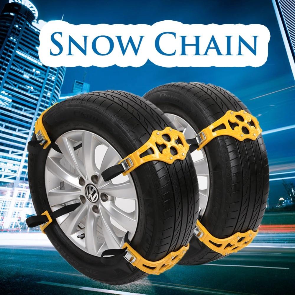 1PC Easy Installation Simple Winter Truck Car Snow Chain Tire Anti-skid Belt-D2TB