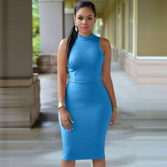 ba097148080 HAOYUAN S-4XL 2018 Plus Size Women Party Dresses Turtleneck Sexy Club Dress  Package Hip