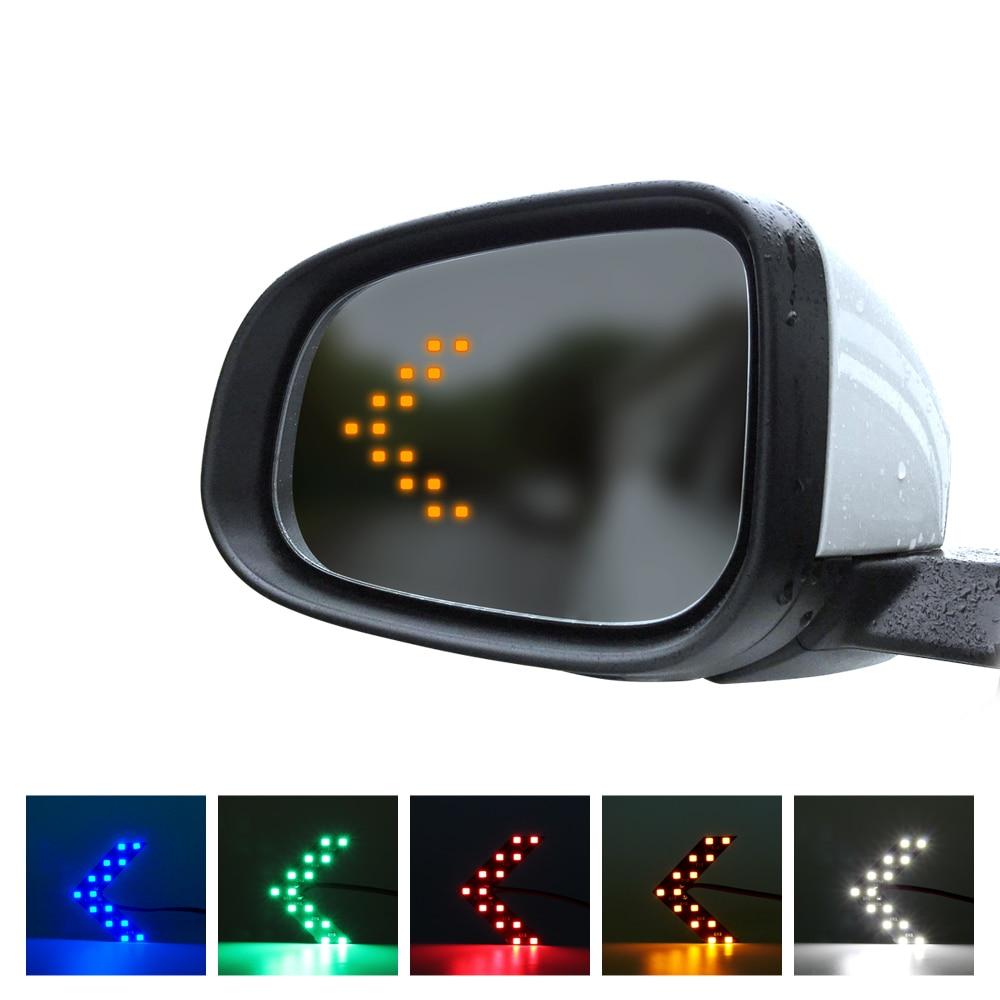 2 шт. 14 SMD панель со стрелками LED Поворотный свет для автомобиля авто зеркало заднего вида Индикатор указатель поворота 12В DC водонепроницаемый