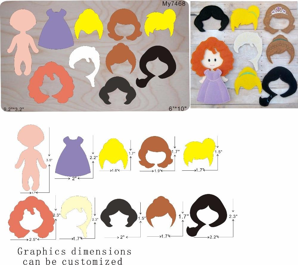 Girl hair assembled die cutting wooden die cut accessories wooden dies Regola Acciaio Die Misura MY