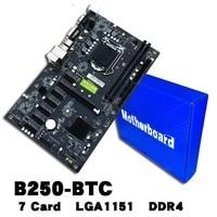 B250 BTC 6PCI E Computer Mainboard With 7 Card Board Support GTX1050TI 1060TI HDD Interface SATA3