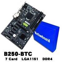 B250 BTC 6PCI E Computer Mainboard With 7 Card Board Support GTX1050TI 1060TI HDD Interface SATA3.0 for mining miner