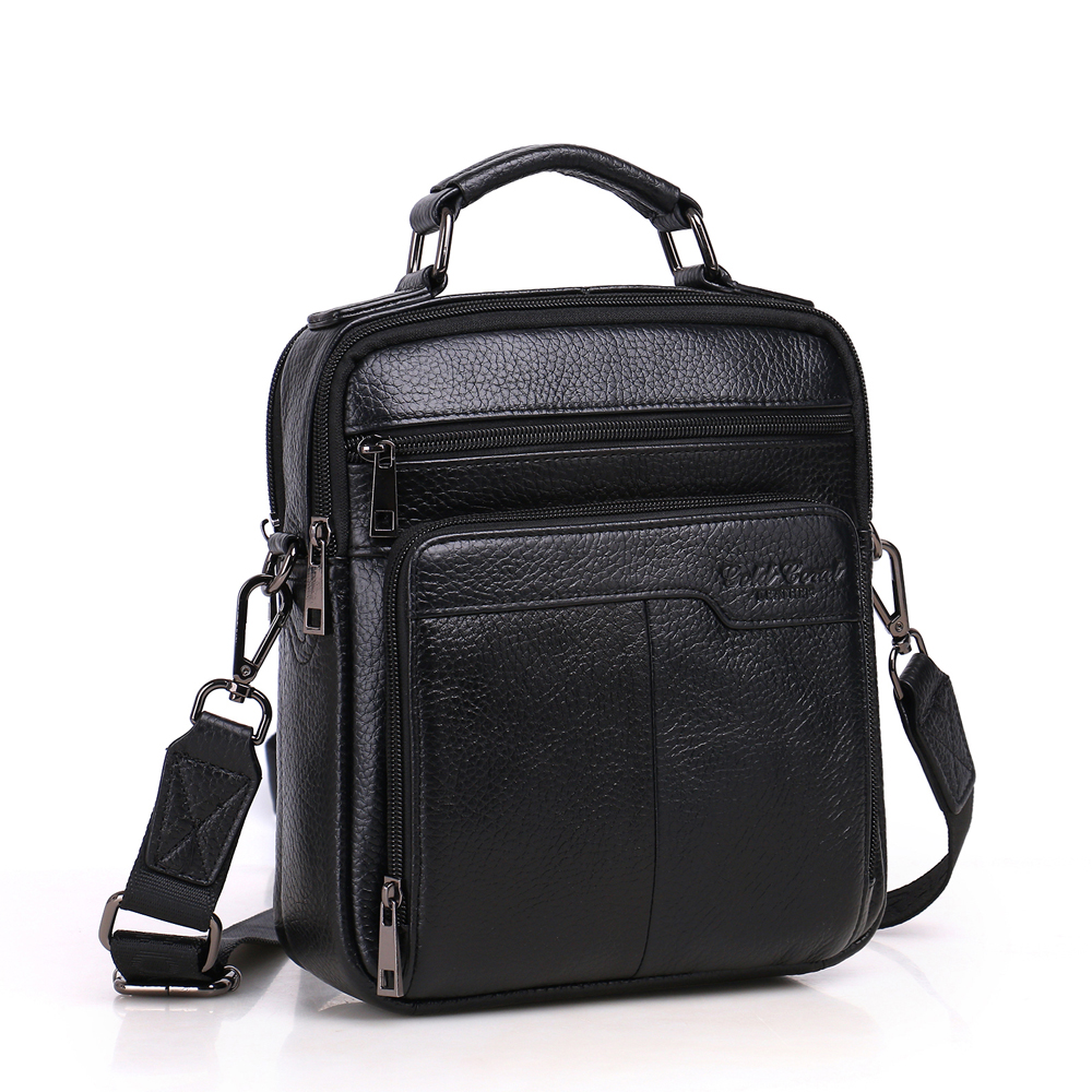 GOLD CORAL Genuine Leather Messenger Bags for Men Male Crossbody Bags Small Flap Casual Men's Shoulder Bags ipad Handbags