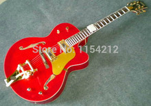 Hot selling Top Quality electric Guitarra Red Flamed Maple Top Classic G 6120-TM Electric Guitar