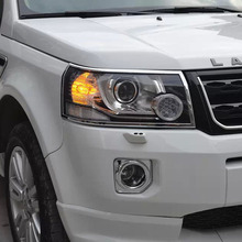 Exterior Car Accessories ABS Chrome Headlight Cover For Land Rover Freelander 2 2012