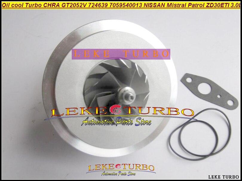 Oil Cooled Turbo Cartridge CHRA GT2052V 724639-5006S 724639 705954 14411-2X900 For NISSAN Patrol MISTRAL Terrano 2 ZD30DTI 3.0L gt1752s turbo cartridge 701196 5007s 701196 chra core 14411 vb300 14411 vb301 chra for nissan patrol 2 8 td 129 hp rd28ti y61