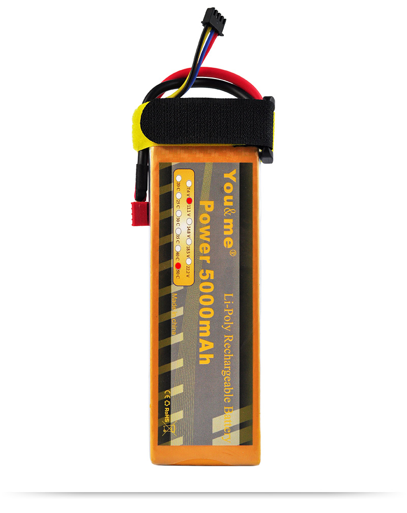 You&me DJI F450 F550 5000mAh 11.1V RC Li-Poly Battery 50C 3S For RC helicopter Car Multirotor Drone