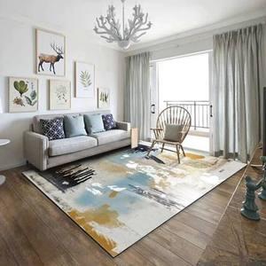 Простой Современный абстрактный чернильный скандинавский Американский коврик журнальный столик для гостиной спальни прикроватный прямоу...
