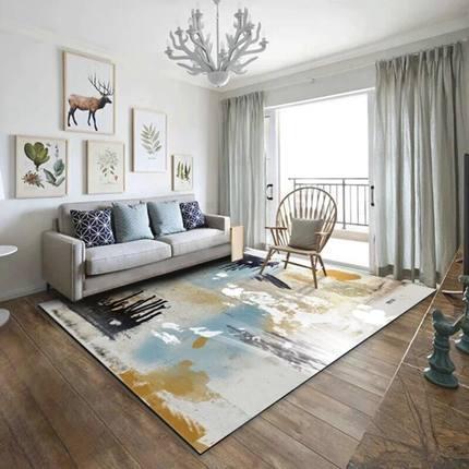 Простой Современный абстрактный чернил Nordic Американский Коврик Гостиная кофе стол спальня прикроватной тумбочке на заказ прямоугольный п