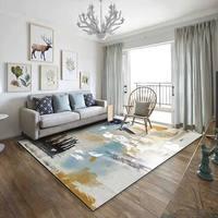Simple modern abstract ink Nordic American rug living room coffee table bedroom bedside custom rectangular full carpet