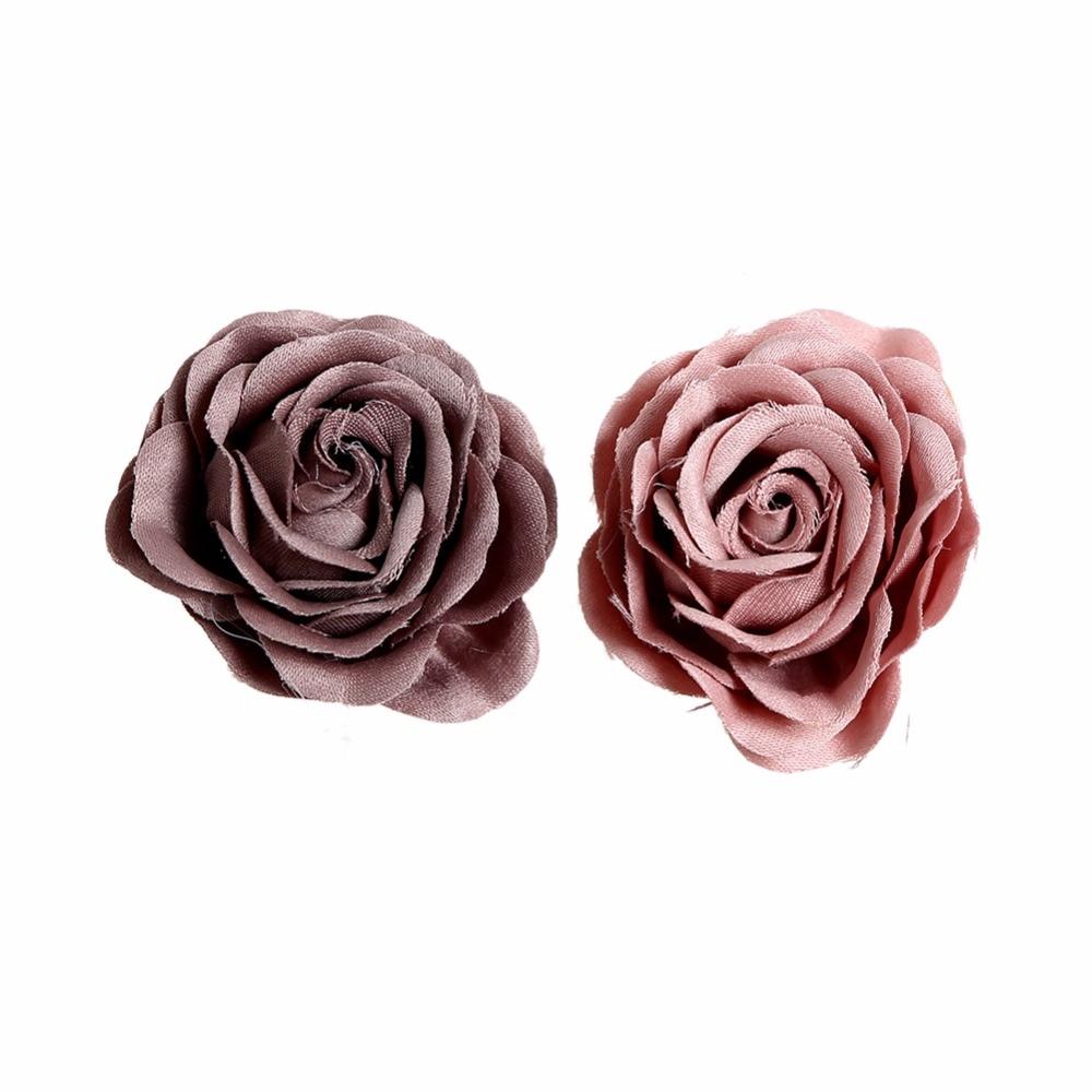 100pcs/lot 2 New Satin Rosette Flowers  Fabric Mesh Baby Girls Hair Accessory Kidocheese