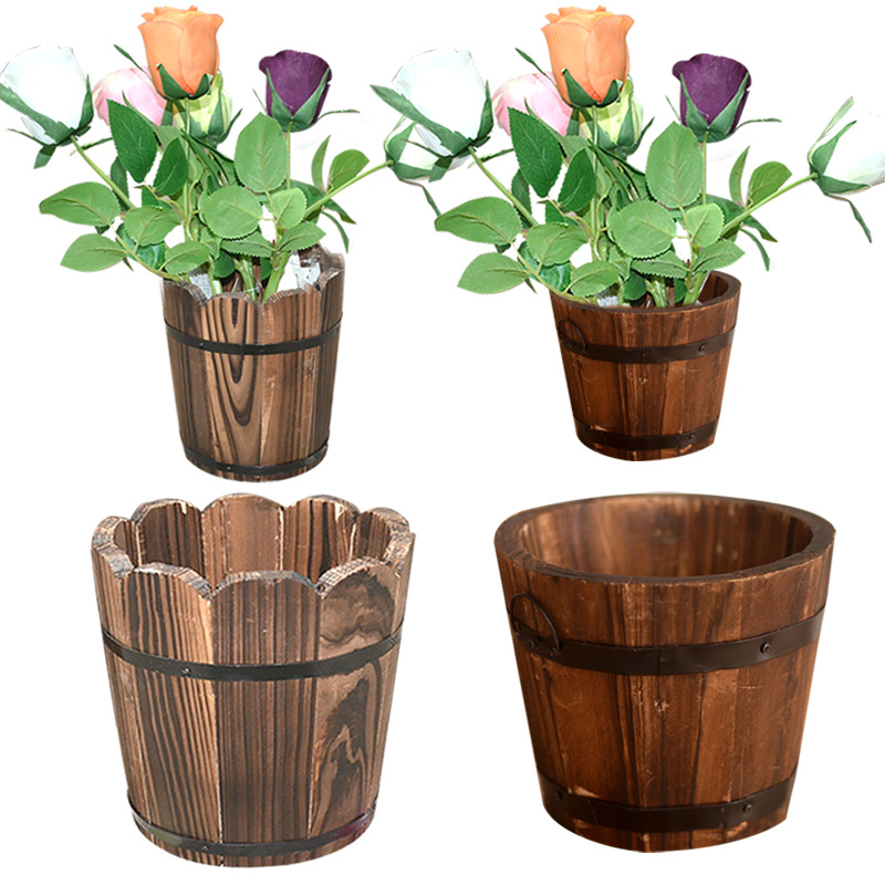 online get cheap wooden flower pots. Black Bedroom Furniture Sets. Home Design Ideas